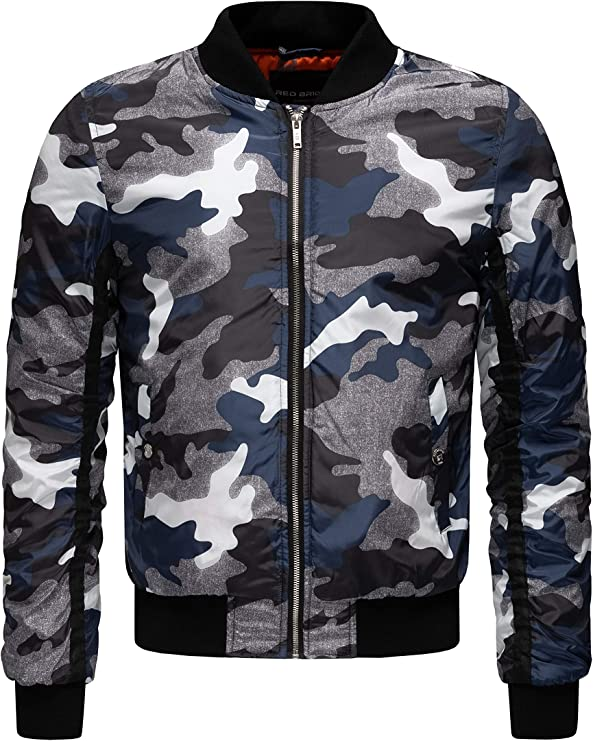 TALLA S. Redbridge Hombres Chaqueta Bomber Camuflaje Abrigos College Jackets Moda Chaquetas