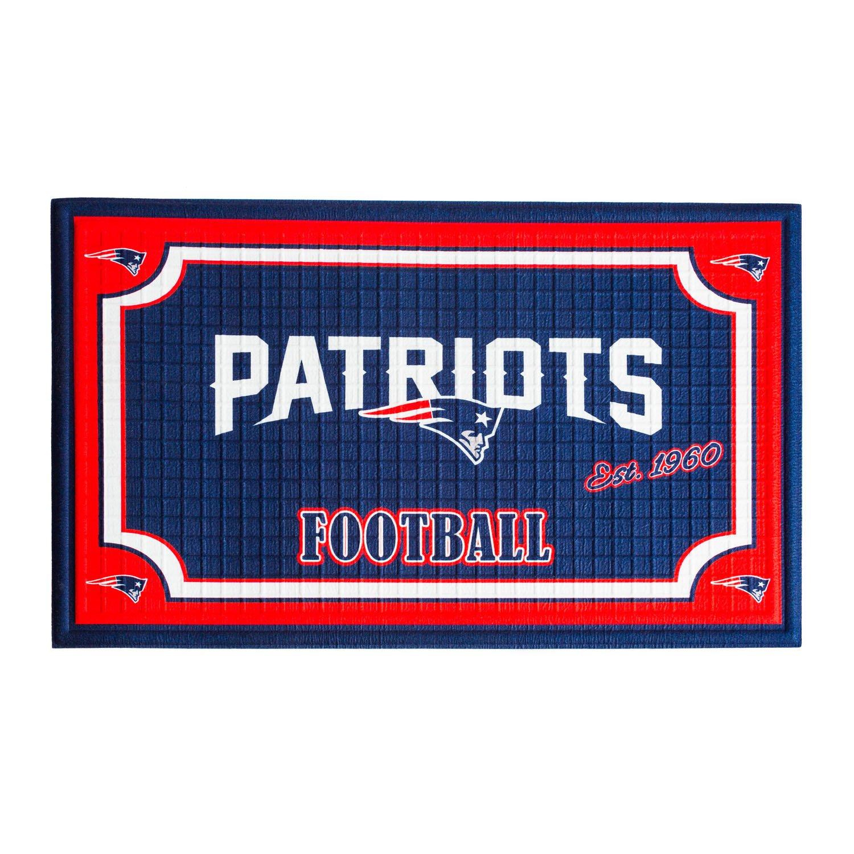 a2821906 Team Sports America 41EM3818B New England Patriots Embossed Door Mat