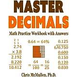 Master Decimals Math Practice Workbook with Answers
