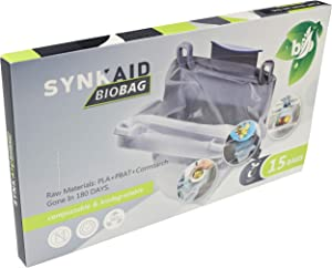 SYNKAID Compostable Trash Bags ‐ Kitchen Sink Leftover Garbage Pouch Strainer Mesh Bag - Food Colander Net bag - Food Scrap Small Kitchen Trash Bags- Clear - 15 Count