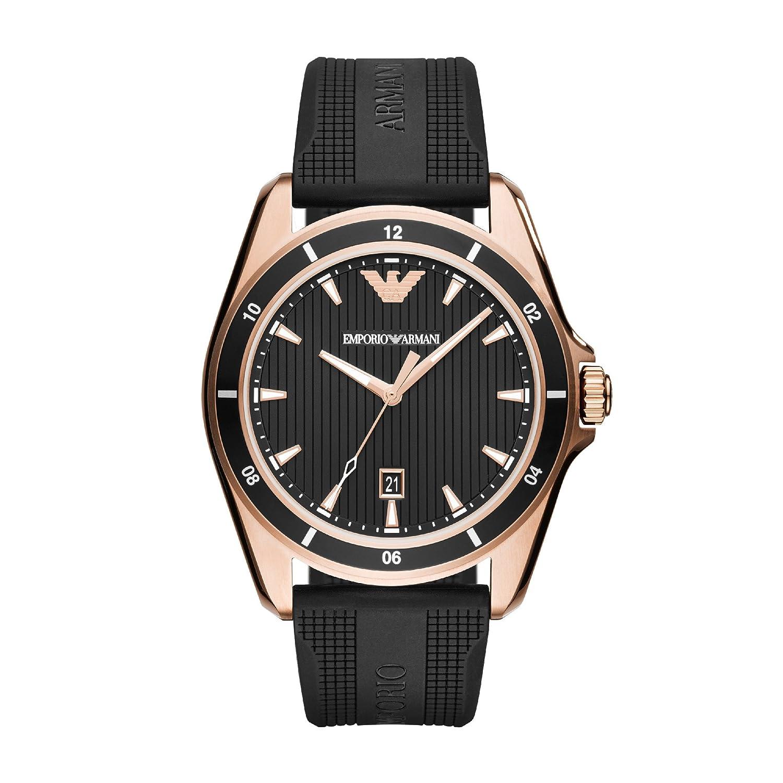 Uhr Armani Armband Herren Analog Quarz Ar11101 Mit Emporio Silikon 6fvIbYgy7m