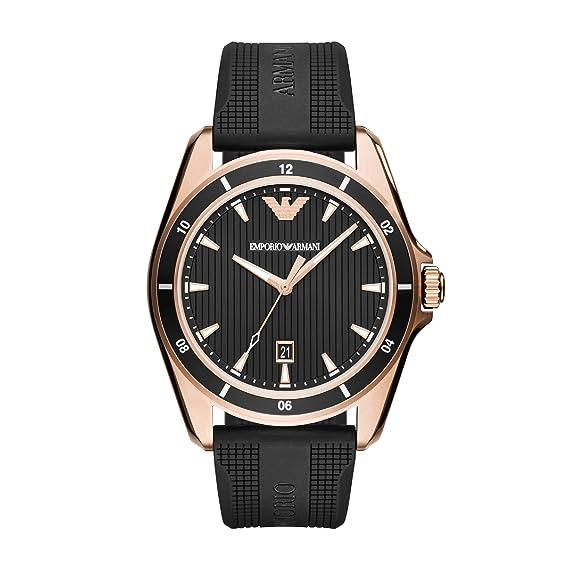 Emporio Armani Reloj Analogico para Hombre de Cuarzo con Correa en Silicona AR11101: Amazon.es: Relojes