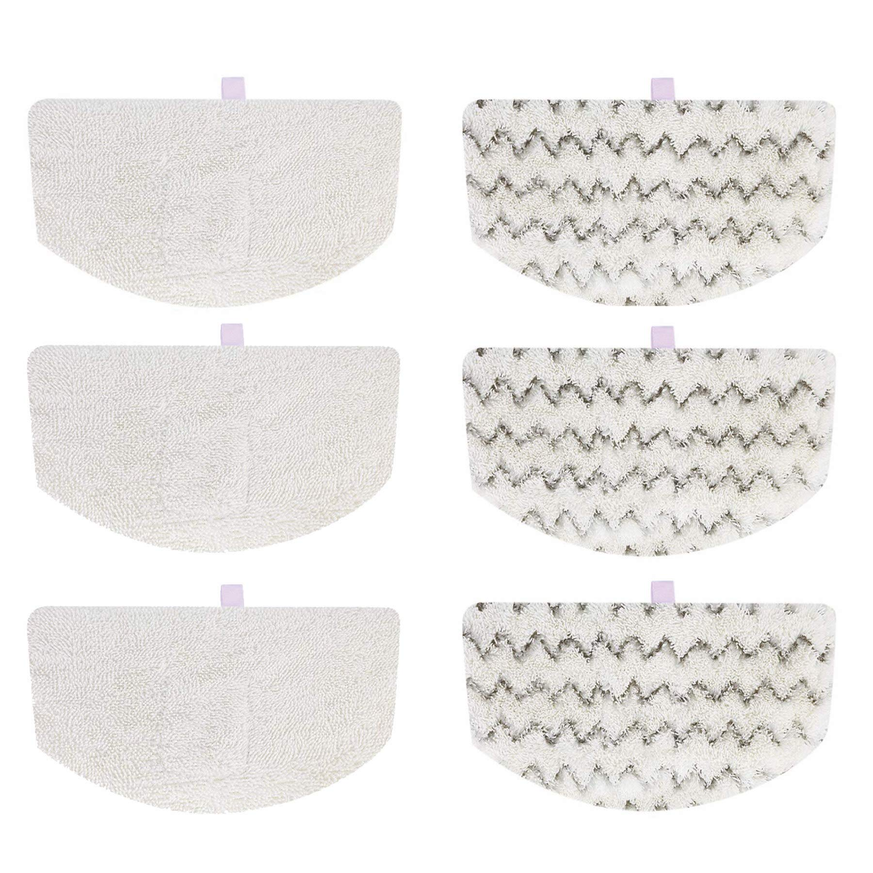 Paros Products 6 - Pack Washable/Reusable Steam Mop Pad Replacements (Quality Certified) for Bissell PowerFresh 1940 1440 1544 Series; Model 19402, 19404, 19408, 1940A, 1940Q, 1940T, 1940W