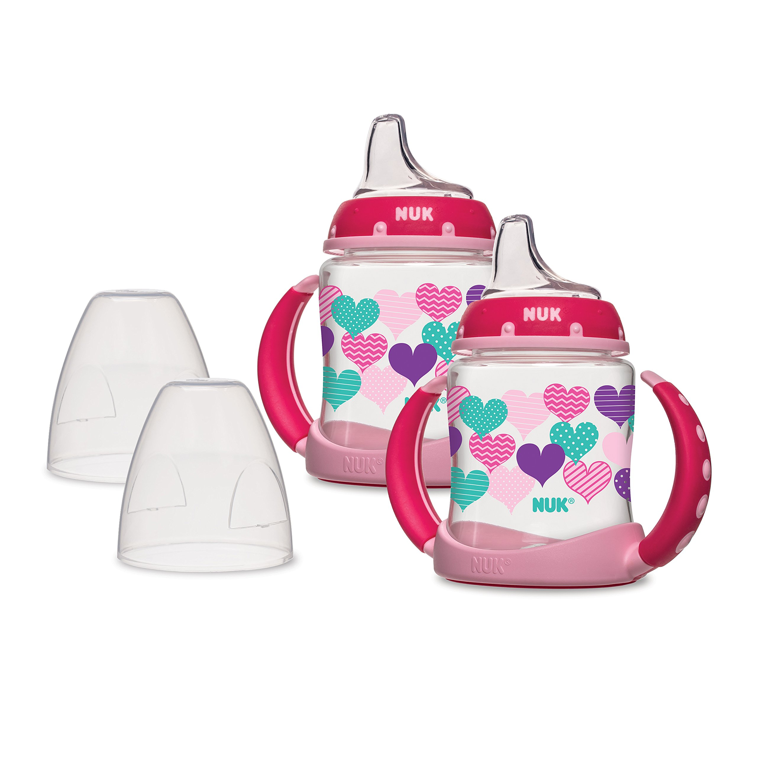 NUK Learner 2-Piece Cup, Pink