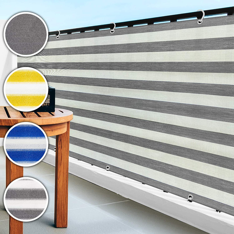 Amazon De Casa Pura Balkon Sichtschutz Uv Schutz 90x500cm