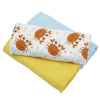 Sensio - Juego de mantas para bebé (100% algodón orgánico, muselina ...