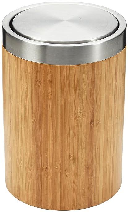 Bien-aimé Möve 40774 Poubelle avec couvercle à bascule Bamboo Luxe: Amazon  EL05