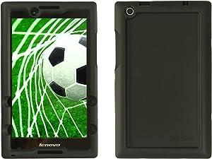 Bobj Rugged Case for Lenovo Tab 2 A8-50, A8-50F, Also Tab 3 TB3-850F, TB3-850M, ZA170001US, ZA170003US – BobjGear Custom Fit - Patented Venting - Sound Amplification - Kid Friendly (Bold Black)