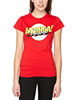 The Big Bang Theory Women's Bazinga Slim Fit Short Sleeve T-Shirt