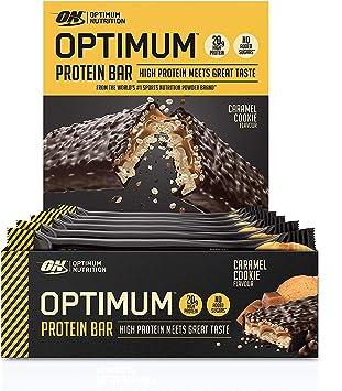 Optimum Nutrition ON Protein Bar Barritas Proteínas con Whey Protein Isolate, Dulces Altas en Proteína y Low Carb, Galleta de Caramelo, 10 Barras (10 ...
