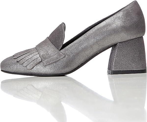 Marca Amazon - find. Mocasines de Piel con Flecos para Mujer: Amazon.es: Zapatos y complementos