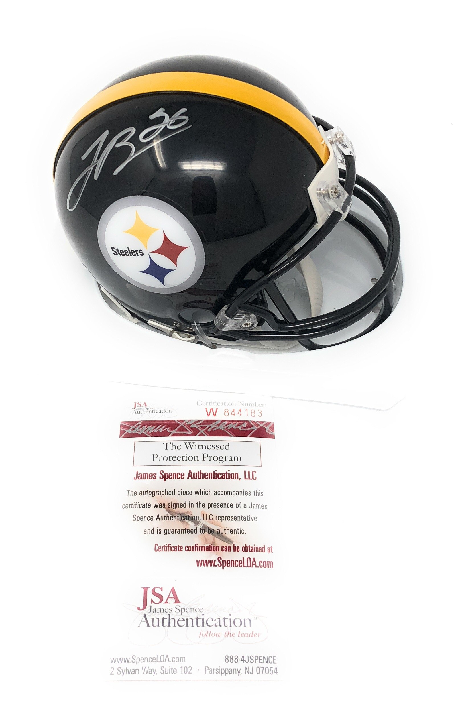 Leveon Bell Pittsburgh Steelers Signed Autograph Mini Helmet JSA Witnessed Certified
