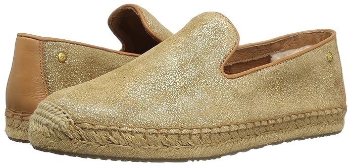 UGG UGG Damen Slipper - Alpargatas de Piel para Mujer Dorado Dorado, Color Beige, Talla 41: Amazon.es: Zapatos y complementos