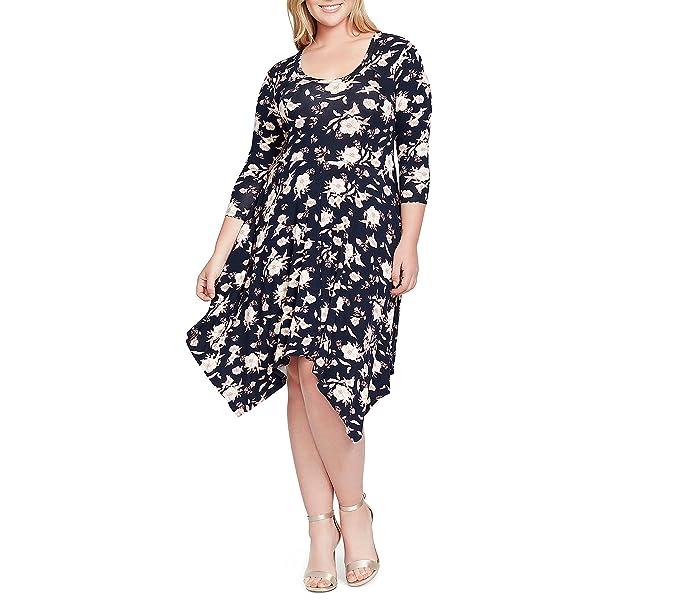732dc10825d Jessica Simpson Plus Size Kaelin 3 4 SLV Sharkbt Dress 2X at Amazon Women s  Clothing store