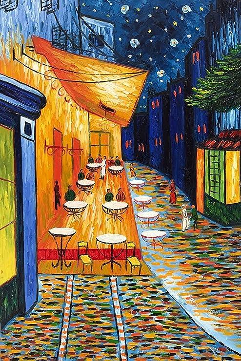 Baccow Terraza De Café Por La Noche Lienzo Van Gogh