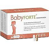 BabyFORTE Kinderwunsch Vitamine - Maca & Q10 + 800 mcg Folsäure Kinderwunsch, Eisen, Jod + 60 Kapseln Tabletten + Vegan