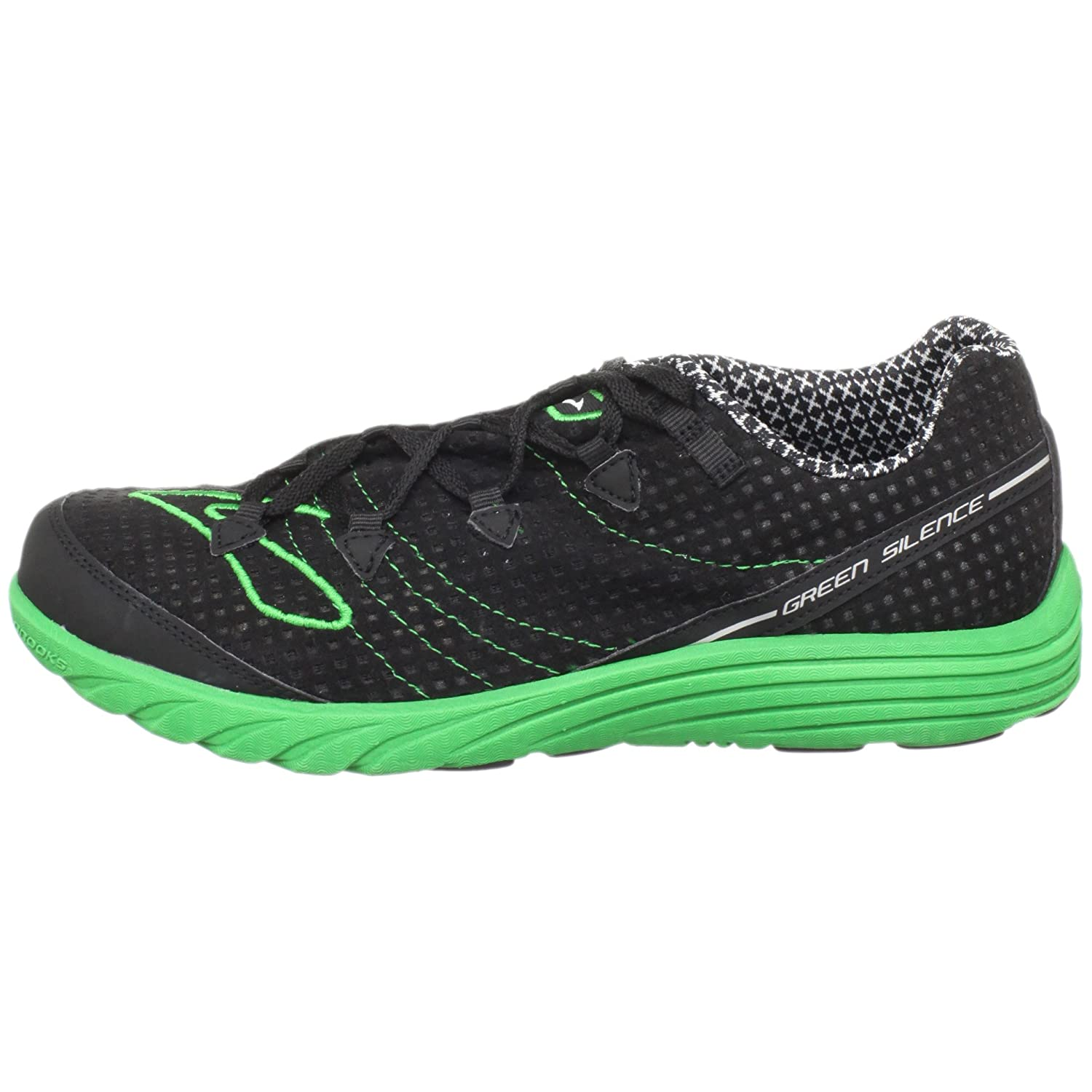 f8a7a6beb38 Brooks Men s M Green Silence Black Emerald Green Trainer 1100961D316 6.5  UK  Amazon.co.uk  Shoes   Bags