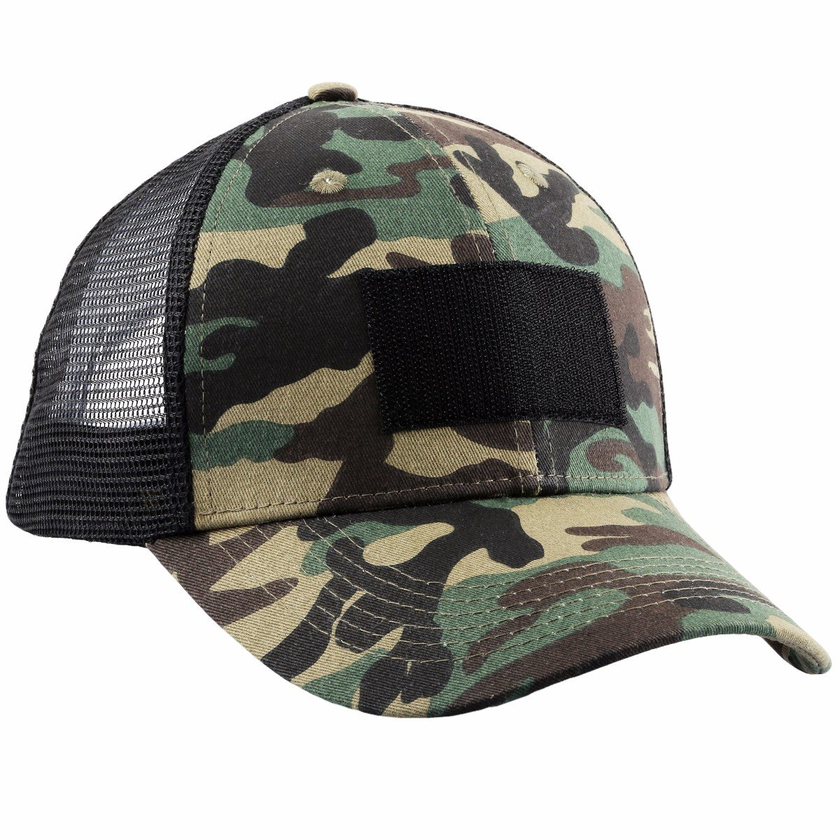 squaregarden Operator Tactical Cap Camo Baseball Caps Hats with Tactical USAフラグパッチ  8-Army Camouflage B075N1KNFD