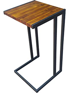 Design 59 Inc Acacia Hardwood C Table / End Table / Laptop Stand, NO  ASSEMBLY