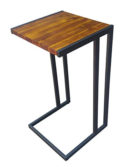 Design 59 Inc Acacia Hardwood C Table/End Table/Laptop Stand, NO ASSEMBLY