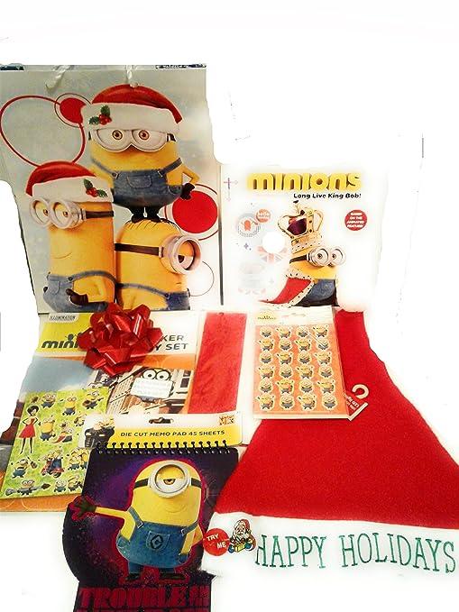 minions christmas gift set for boy or girl bundle of 8 minions items includes - Minions Christmas