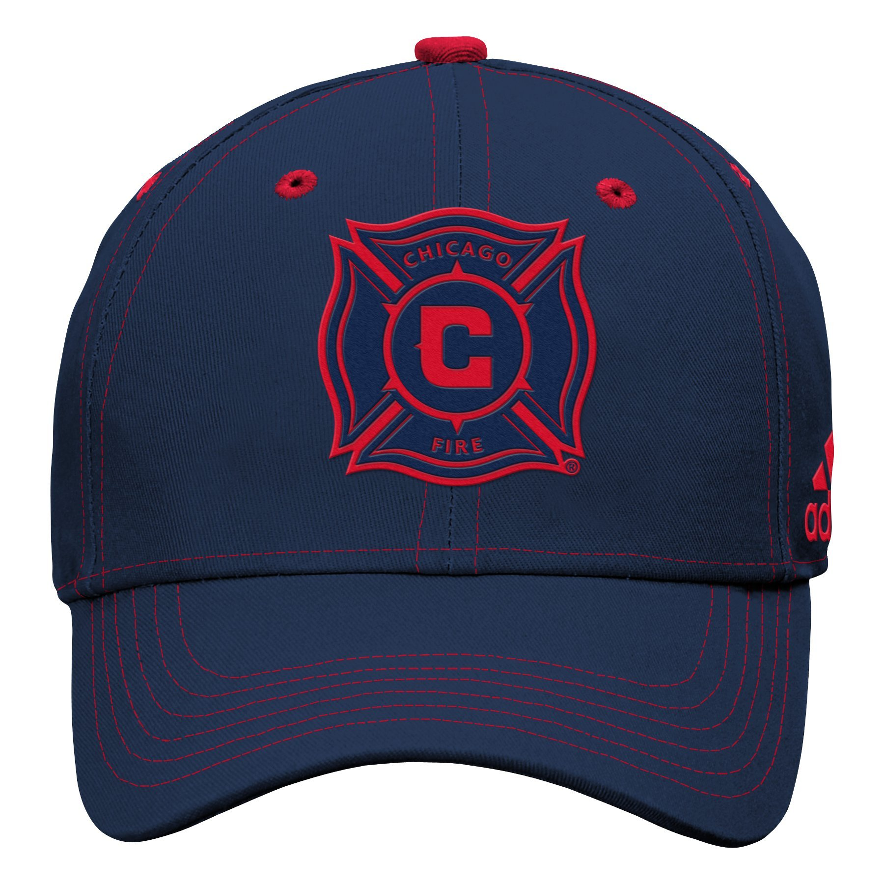 Outerstuff MLS Chicago Fire Boys Tonal Logo Structured Adjustable Hat, New Navy, One Size (8)