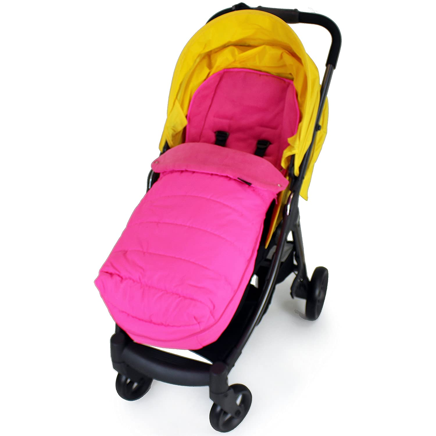 XXL Large Luxury Foot-muff And Liner For Mamas And Papas Armadillo - Raspberry (Pink) Baby Travel® BtMcFmMPPink