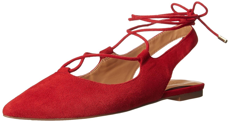 Franco Sarto Women's Snap Ballet Flat B016ELUZ7G 9 B(M) US Red