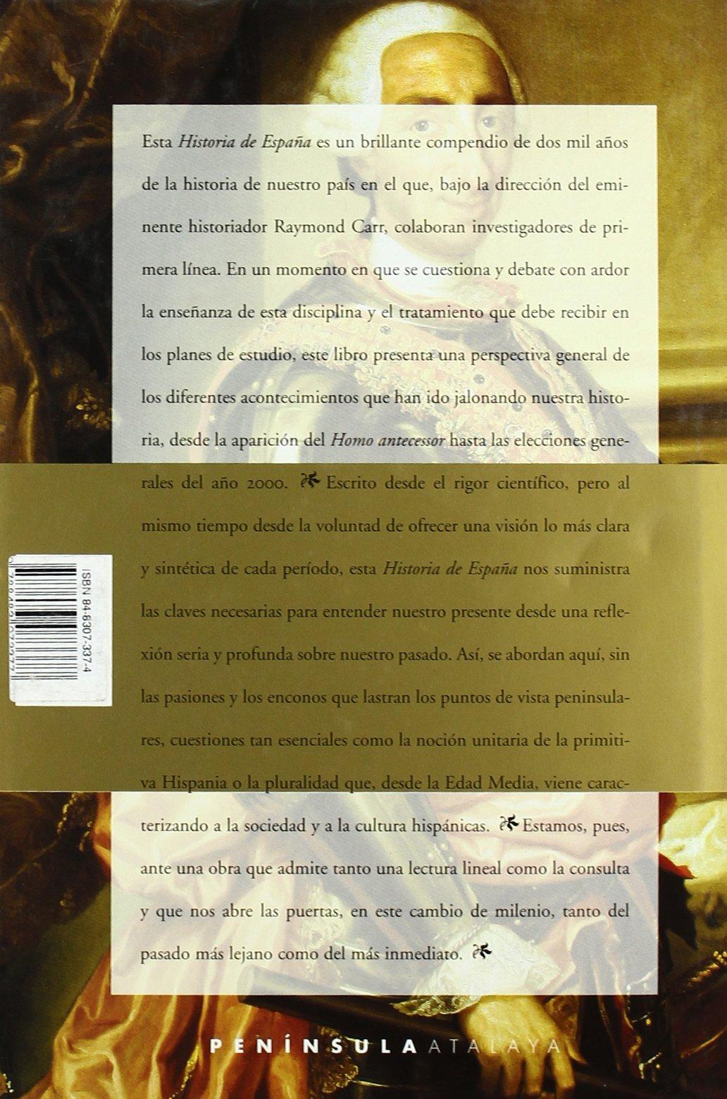 Historia de España (ATALAYA): Amazon.es: Carr, Raymond, Gil Aristu, José Luis: Libros