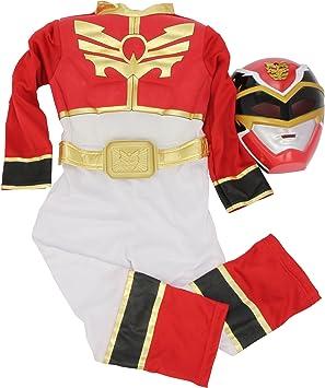 Power Ranges - Disfraz de Ranger Rojo musculoso para niño ...