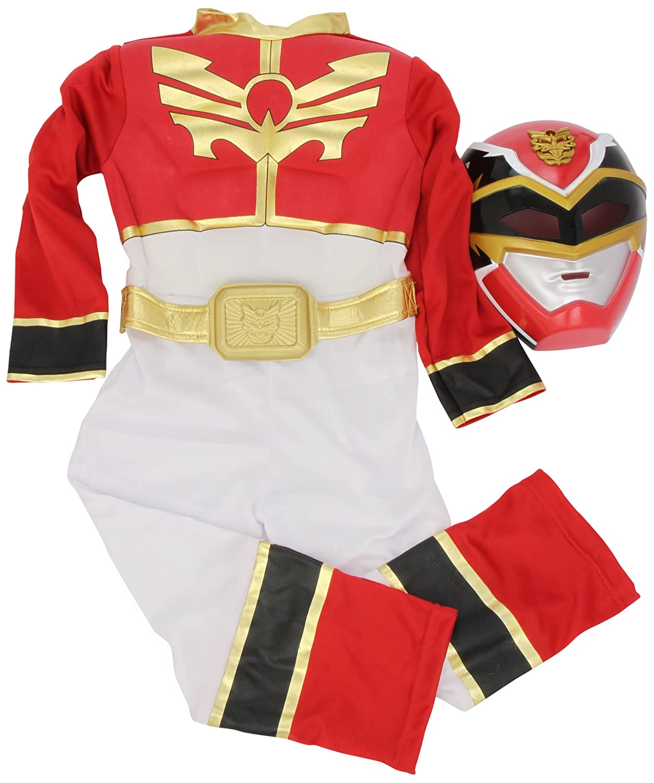 Costume da Power Ranger Rosso per bambini S Rubies 3886669