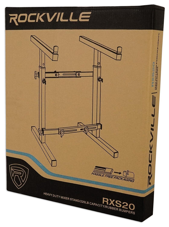 Rockville Portable Adjustable Mixer Stand For Presonus StudioLive AR16 Mixer