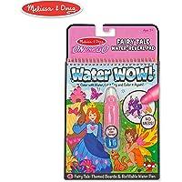 Melissa & Doug On the Go Water Wow! Cuentos de Hadas, Bloc revelador Reutilizable para Colorear con Agua, plumón de Agua Grueso, 25.4 cm Alto x 15.875 cm Ancho x 9.652 cm Largo