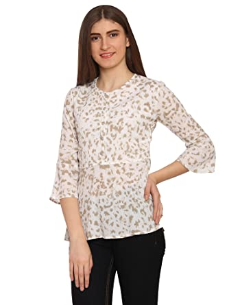 0bbe438d85d87 Fashionaire Beautiful and Stylish White Tunic Top with Lining for Women