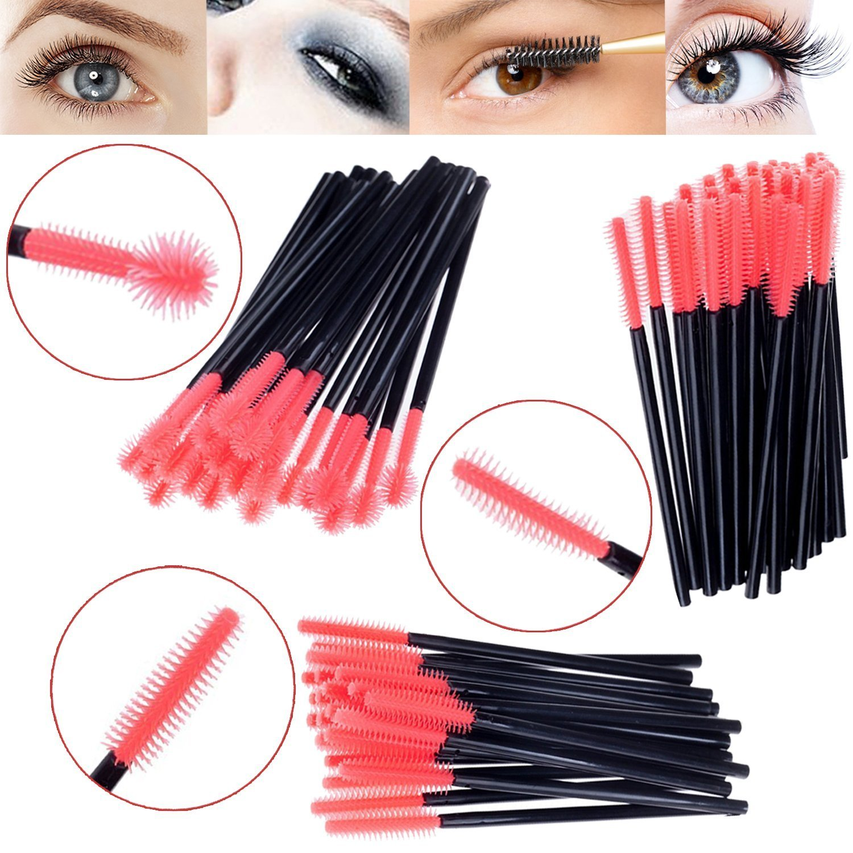 Amazing Valor profesional de alta calidad Kit de herramientas de Make Up Set con 75pcs lavable higiénica cepillos Mascara Varita/Aplicadores/Eye Lashes con cabezales de silicona), color rosa en 3diferentes formas/Designs by Vaga