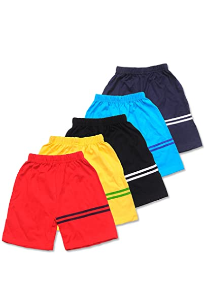 T2F Boy's and Girl's Cotton Shorts - Pack of 5 Fashion at amazon