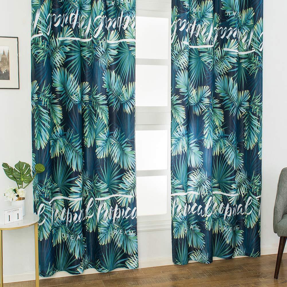 osmanthusFrag 1Pc Motif Feuille Style Plante Tropicale Rideaux Occultants Salon Chambre /à Coucher Fournitures