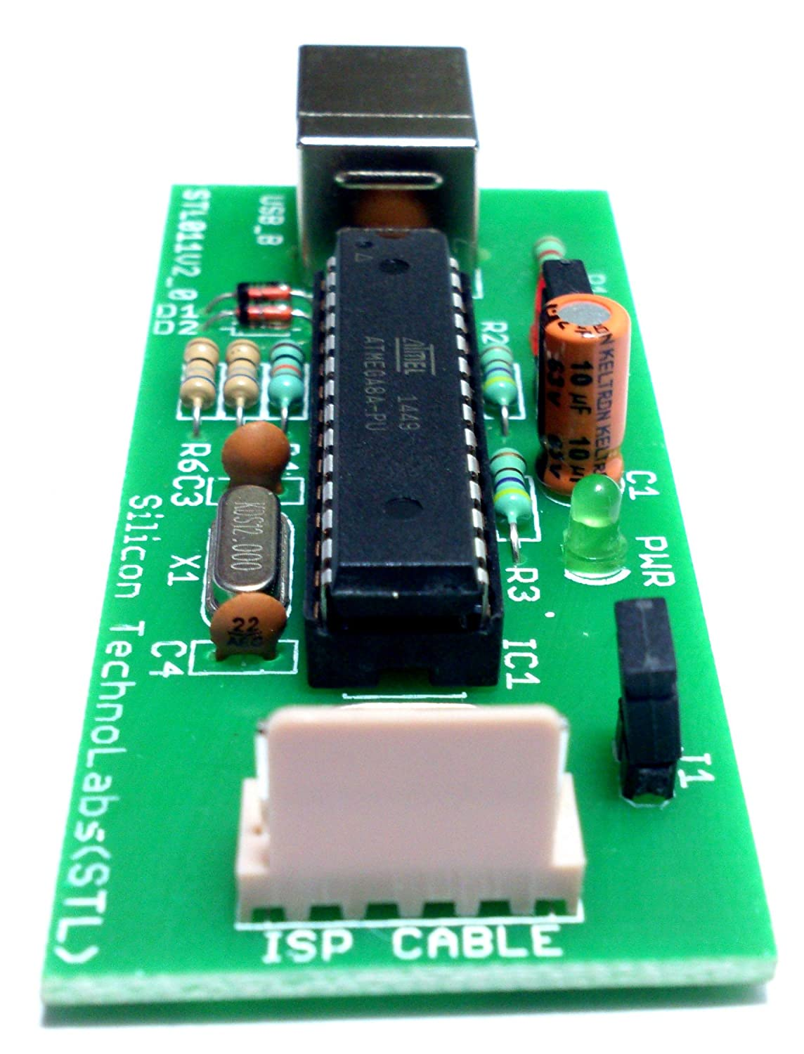 Buy 8051 Avr Usb Isp Programmer For 89s51 89s52 Etc Programming Many Atmega Tiny And Classic Atmel Free Cable Supports 89s8252