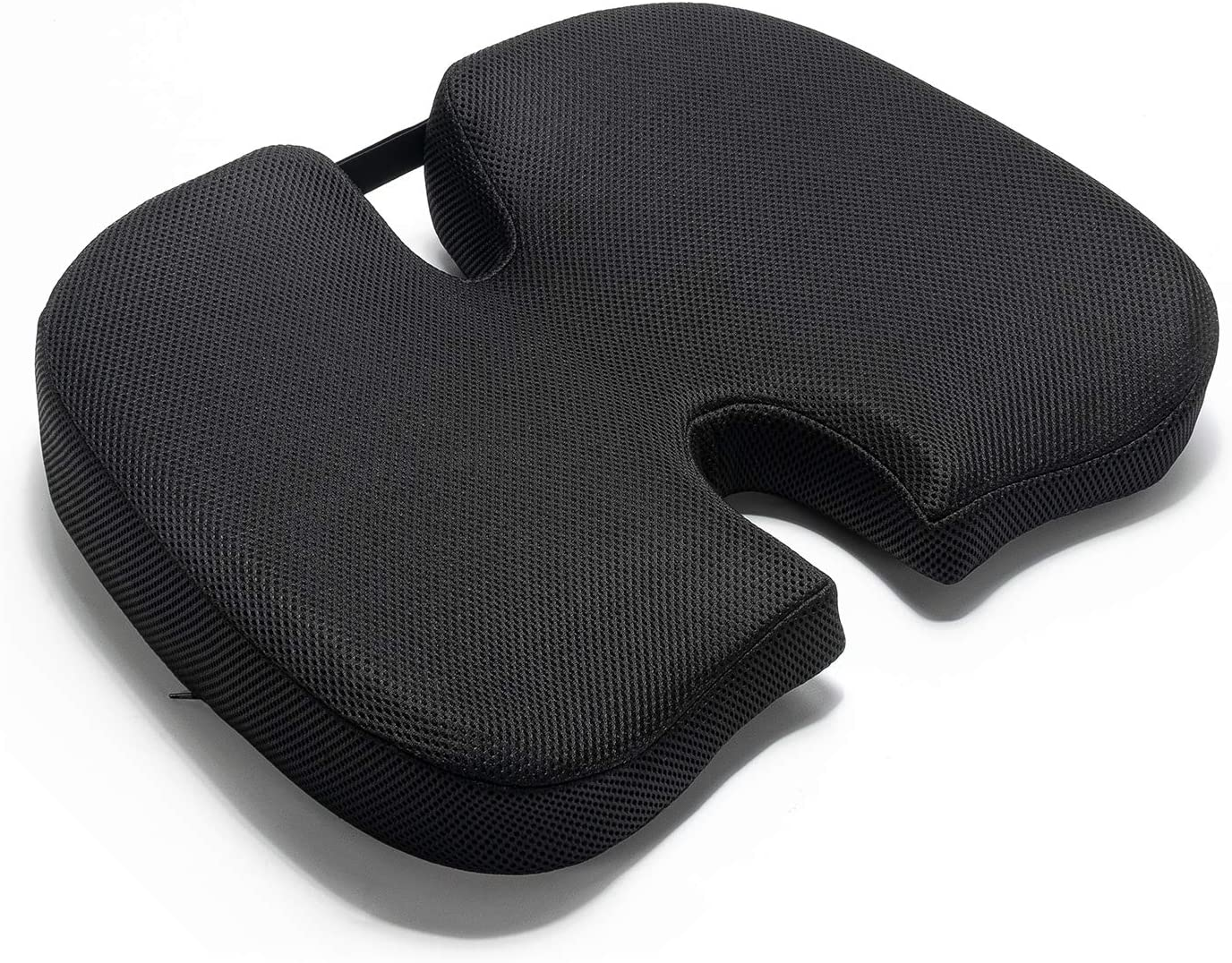 anzhixiu New Supportive Memory Foam Seat Cushions for Office Chairs - Ventilated Seat Cushions for Pressure Relief-Black