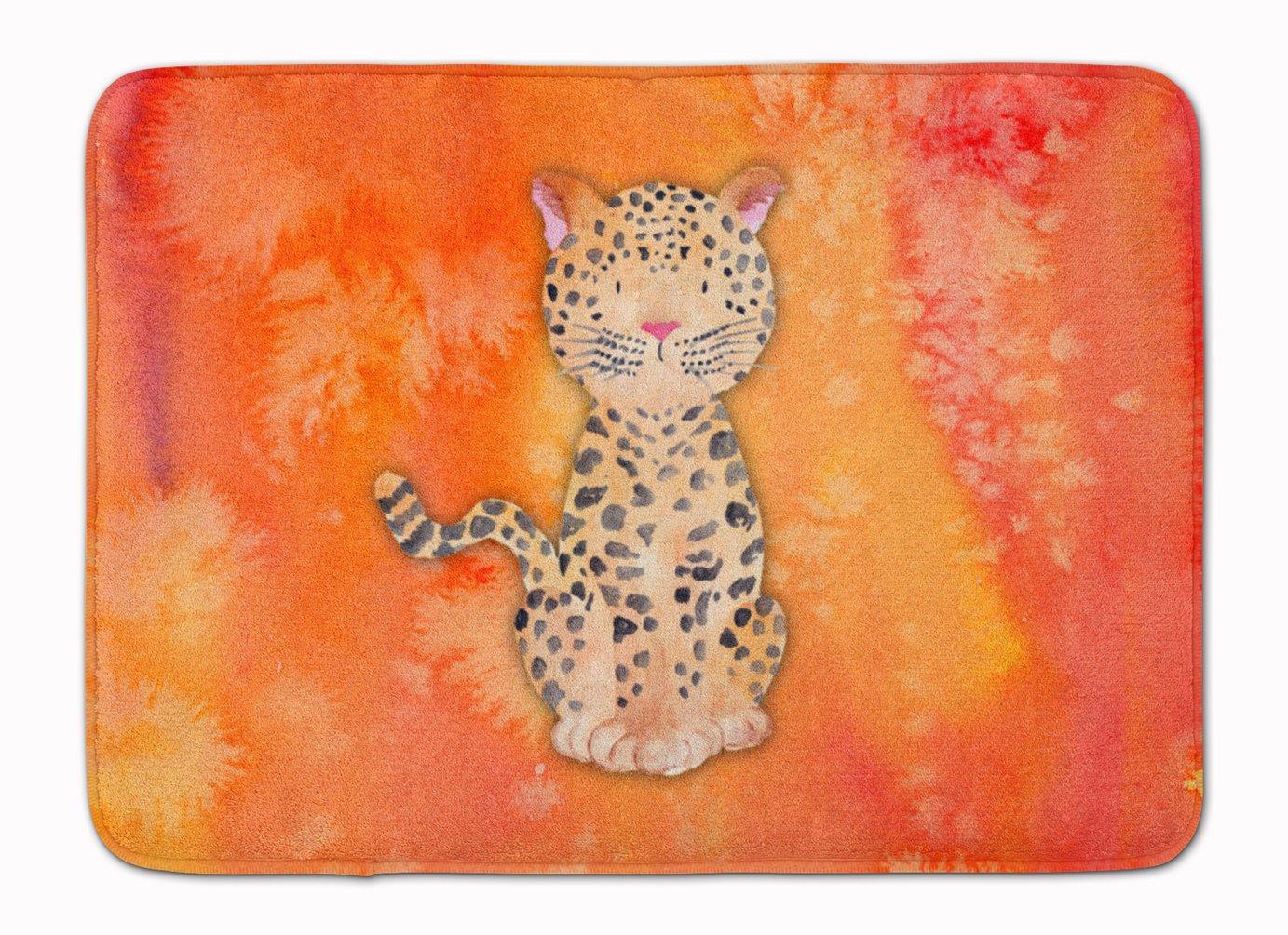 Carolines Treasures Leopard Watercolor Floor Mat 19 x 27 Multicolor