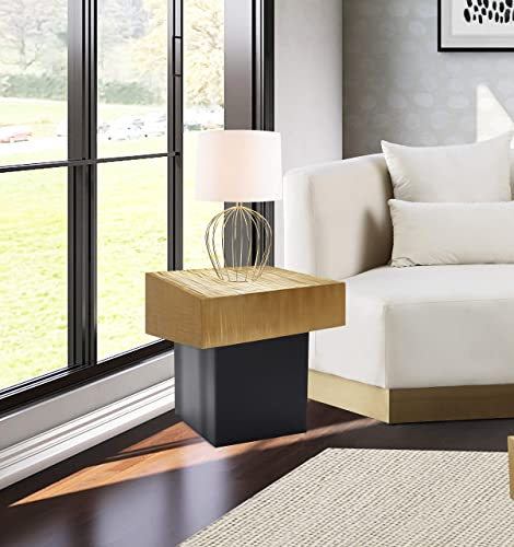 Meridian Furniture Palladium Collection Modern | Contemporary Textured Top End Table
