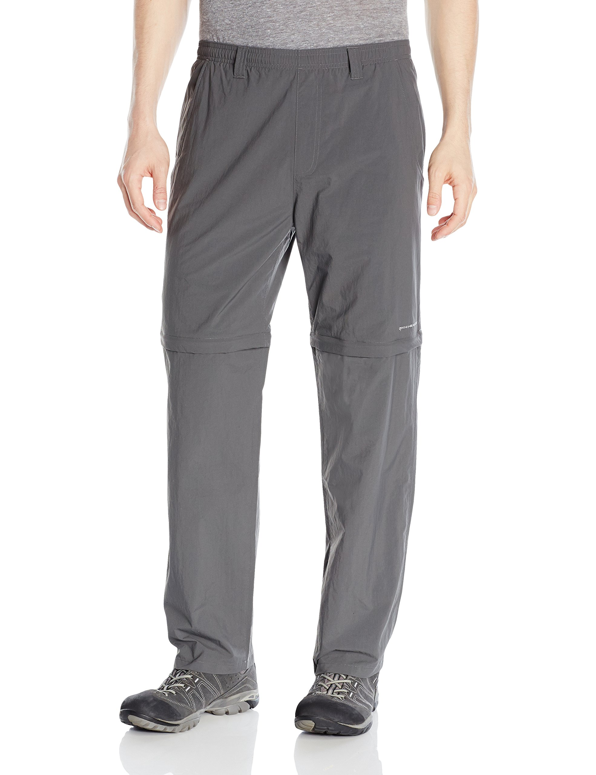 Columbia Men's Backcast Convertible Pants, Small x Size 30, Grill