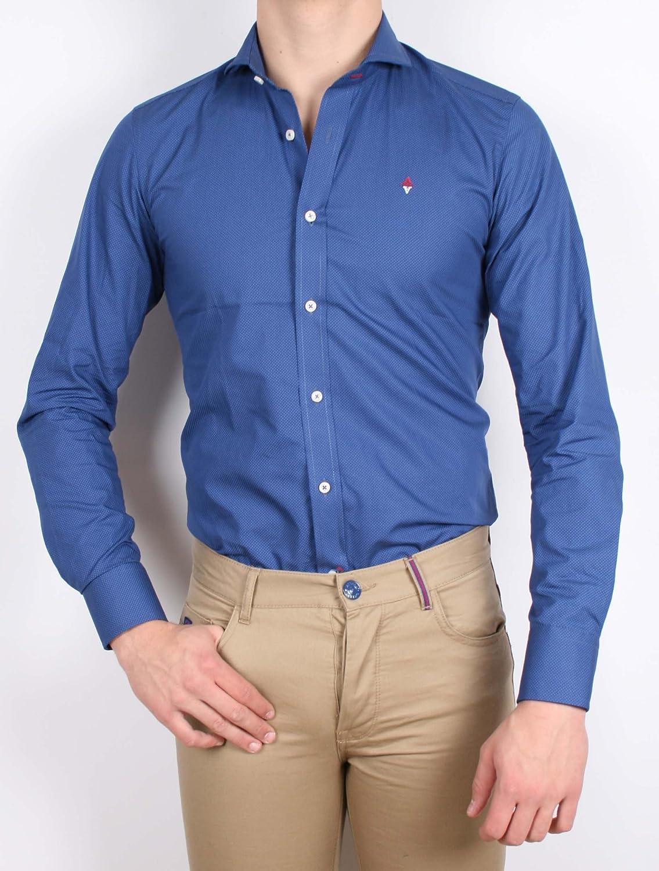 Alvaro Moreno, Camisa Micropuntos-40, color Celeste: Amazon ...