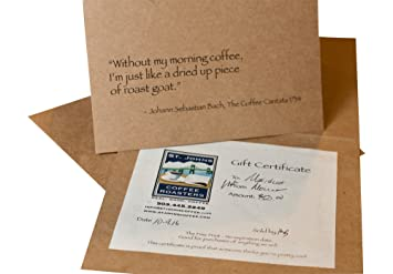 Amazon Com St Johns Coffee Roasters Gift Certificate 10 00