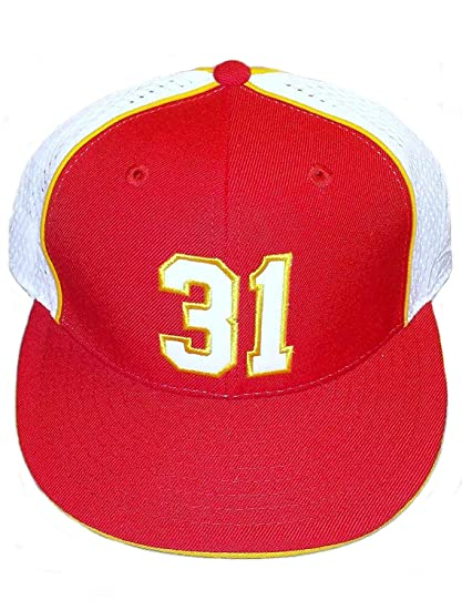 ab0a864a Amazon.com : Reebok Kansas City Chiefs Fitted Holmes 31 Hat Size 7 3 ...