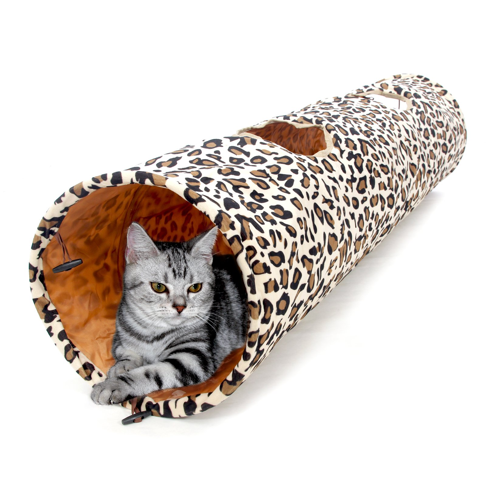 PAWZ Road Cat Toys Collapsible Tunnel Dog Tube for Fat Cat,Rabbits,Dogs Length 51'' Diameter 12'' by PAWZ Road