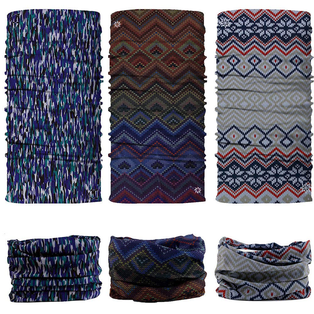 9 Pack NTBOKW Face Mask Bandana for Sun UV Dust Wind Seamless Headband for Men Women Neck Gaiter Rave Face Mask for Festival Party Riding Motorcycle Riding Biker Cycling Fishing Tube Mask 4//6