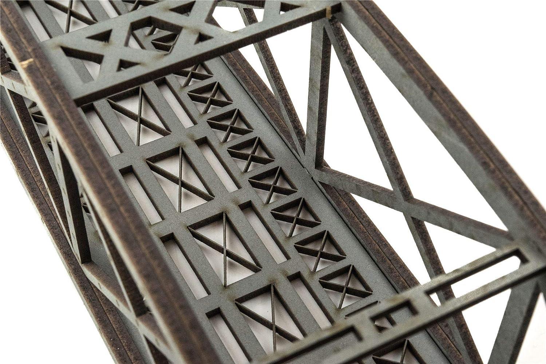 Puente Tipo Arco Bowstring Gris de v/ía /única 400mm con Detalles War World Scenics Maquetas Modelismo Ferroviario OO//HO
