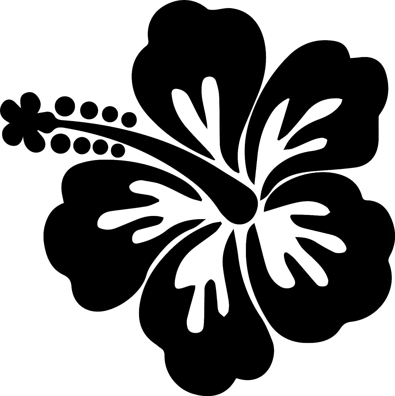 Amazon angdest hibiscus flower black set of 2 premium amazon angdest hibiscus flower black set of 2 premium waterproof vinyl decal stickers for laptop phone accessory helmet car window bumper mug tuber izmirmasajfo