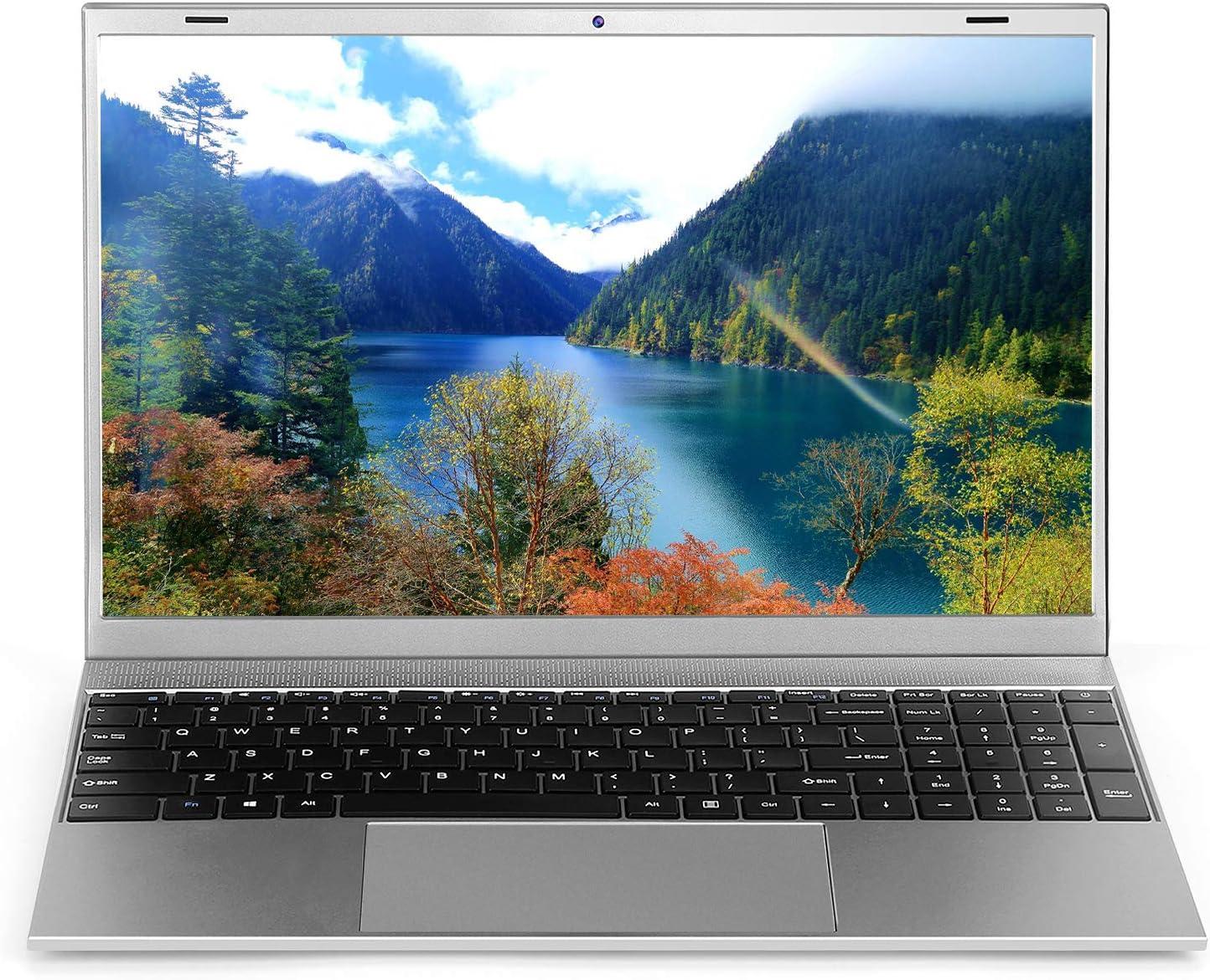 Windows Laptop Computer 15.6 inch, 8GB RAM 128GB M.2 SSD Windows 10 Pro PC Laptops, Intel Celeron J4155 Quad Core Notebook, Support 5G WiFi, Mini HDMI Webcam, Grey